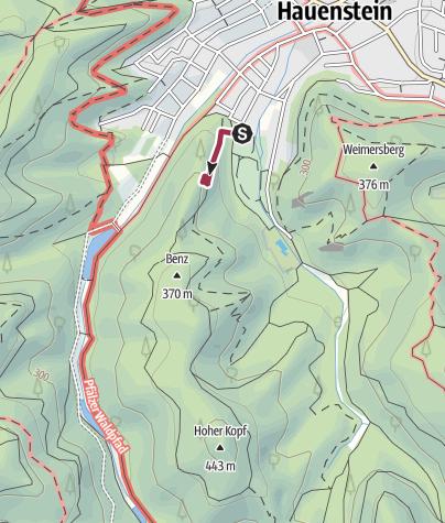 Map / Zustieg - Burghaldefels