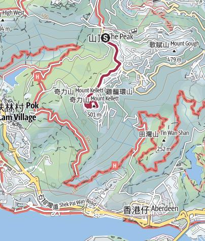 Map / From Peak to Mount Kellett 山頂到奇力山