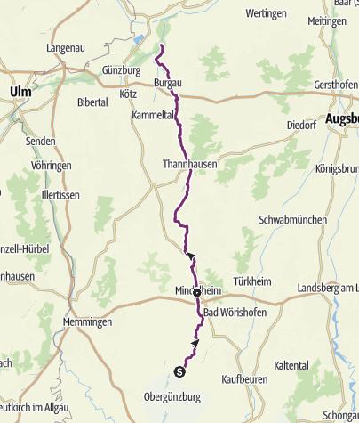 Karte / Mindeltal-Radweg