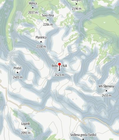 Map / Bobotov Kuk