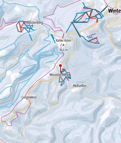 Karte / Postwiesen-Skidorf Neuastenberg