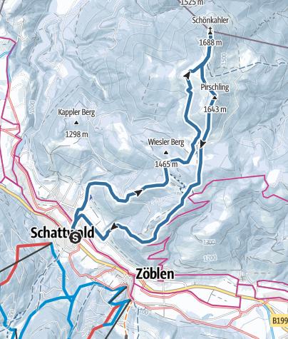 Karte / Schönkahler von Schattwald aus