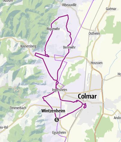 Carte / Route, 3/08   ribeauville colmar