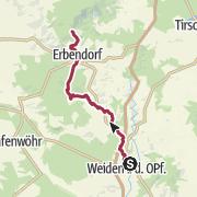 Mappa / Alpenvereinsweg Weiden - Steinwaldhütte Pfaben