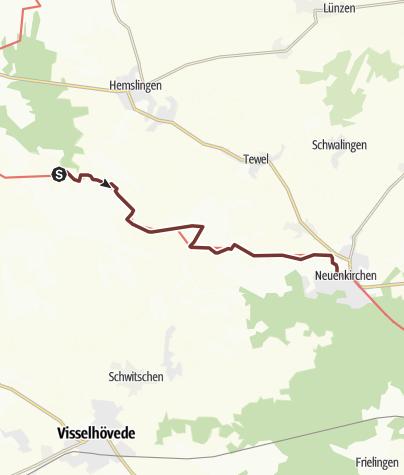 Karte / VIA ROMEA Bellen - Neuenkirchen (06)