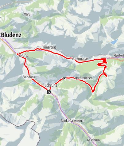 Karte / Wasserstubental Tour (E-Bike)