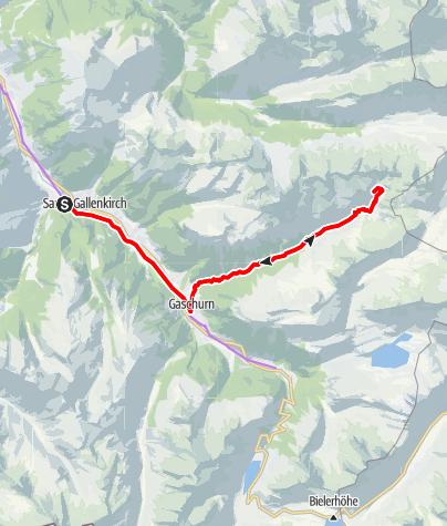 Karte / Valschavieltal Tour (E-Bike)