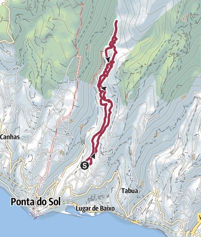 Karte / Levada Nova – Levada do Moinho – Runde oberhalb Ponta del Sol