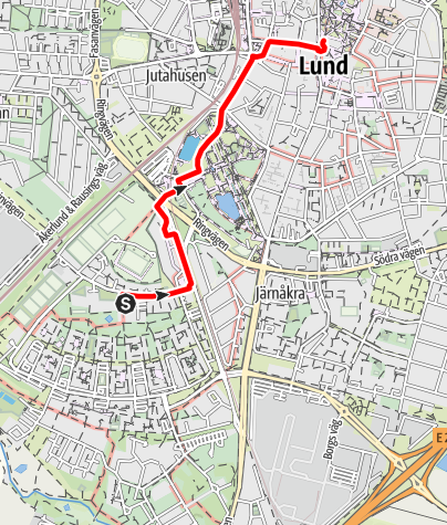 Karta / Barmhärtighetens väg (Birgittavägen) Helgeand kyrka - domkyrkan i Lund
