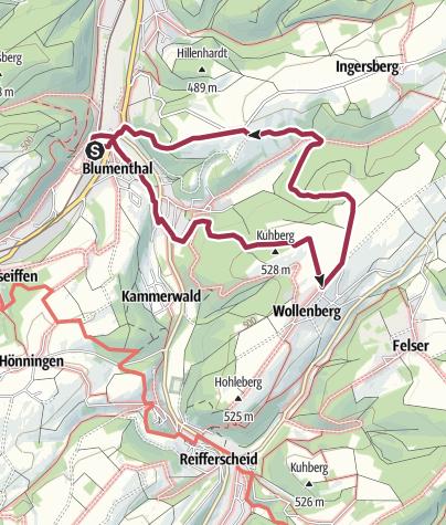 Karte / Wanderung 2019