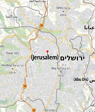מפה / אכסניית אברהם ירושלים
