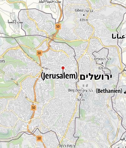 Karte / Abraham Hostel Jerusalem