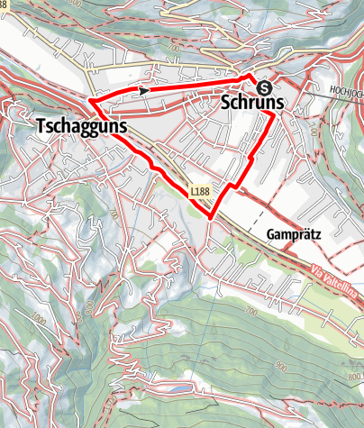 Karte / Dorfrunde 1 in Schruns-Tschagguns