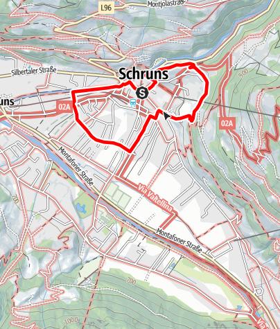 Karte / Marktgemeinde Schruns: Dorfrundweg