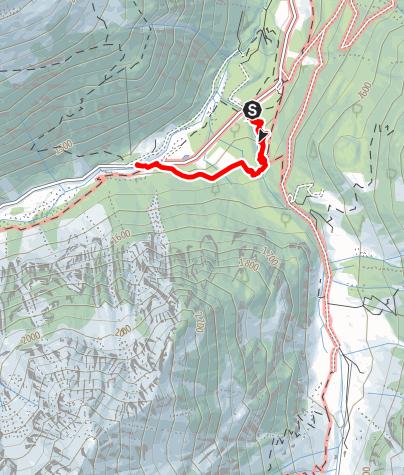 Karte / WildeWasserWeg: Langetaler Wasserfall