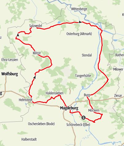 Karte / Straße der Romanik - Nordroute