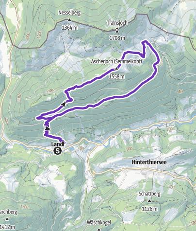 Karte / Saurüssel - Semmelkopf Trail Quickie