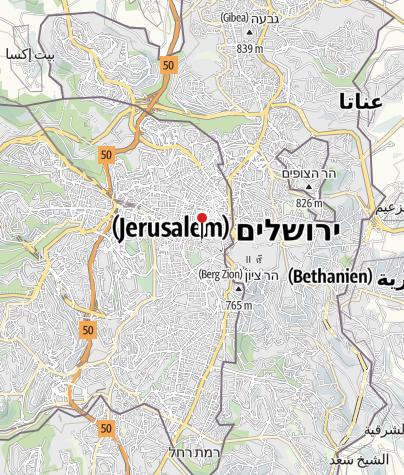 מפה / אכסניית ירושלים
