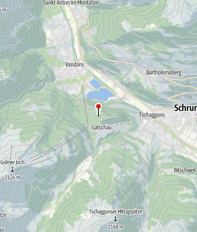 Karte / Klettergarten Tschagguns - Latschau