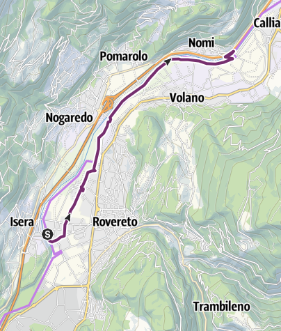 Map / From Rovereto to Nomi with your bicycle