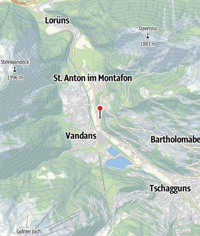 Karte / Ferienhaus Valleu