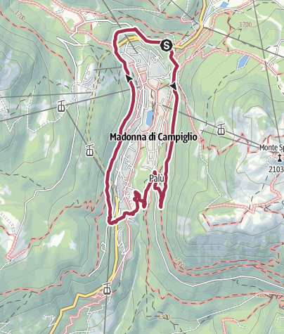 Map / Madonna di Campiglio tour