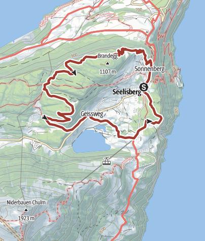 Karte / Auf dem Förster-Trail um Seelisberg