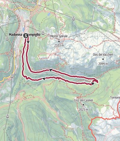 Map / Vallesinella waterfalls tour