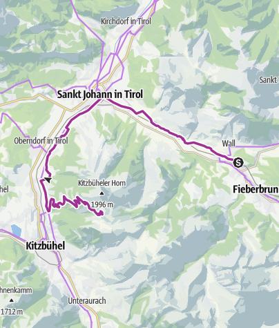 Karte / Ausfahrt Fieberbrunn-Horn Aug. 2020
