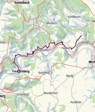 Karte / Fränkischer Marienweg im Südspessart