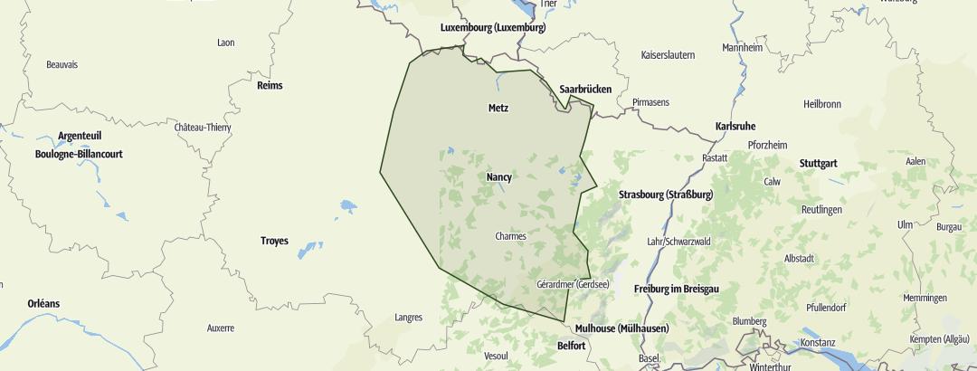 Lothringen Karte.Lothringen