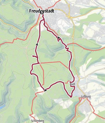 Karte / Freudenstadt: Tannen, Türme und Zauberland
