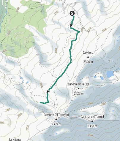 Mapa / Hoya Moros por Senda de los Escaladores