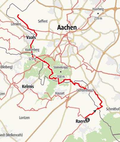 Kaart / Grensrouten - Van de voet van de Eifel tot het Mergelland