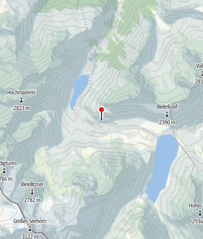 Karte / Klettergarten Silvretta- Bielerhöhe