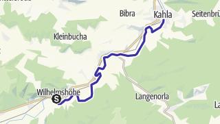 Map / Saale - Wasserwandern von Uhlstädt bis Kahla - Etappe 7