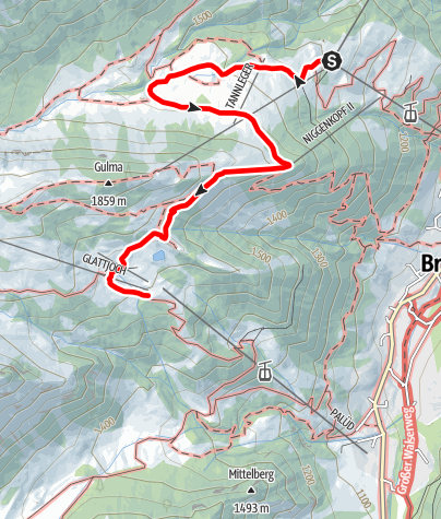 Map / Tierwelten-Weg | Brandnertal