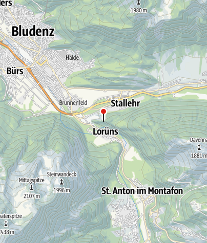 Karte / Kletterwand Lorünser Wändle