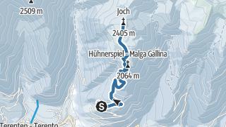 Karte / Schneeschuhwanderung Terner Joch