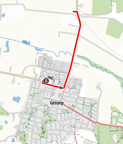 Karta / Mariavägen, Genarps kyrka - Gödelövs kyrka