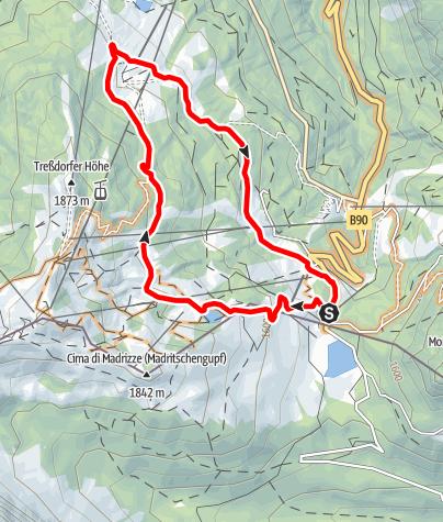 Karte / Nassfeld - Rossalm - Nassfeld (HP5)