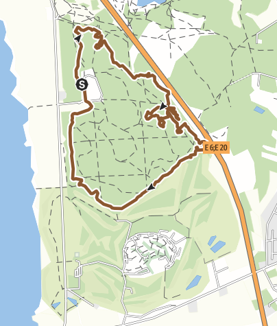 Map / Järavallen MTB slinga/trail