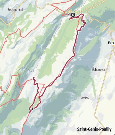 Map / Mijoux Le Colomby de Gex Cret de la Neige