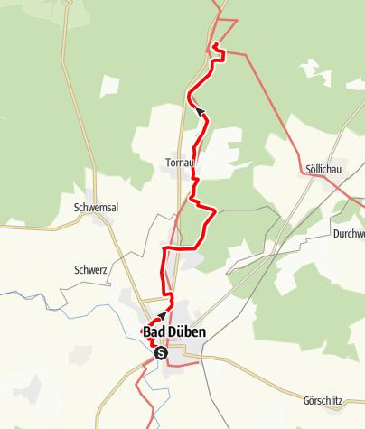 Karte / Mit Billi Bockert auf der Heide-Biber-Tour von Bad Düben in das Hammerbachtal