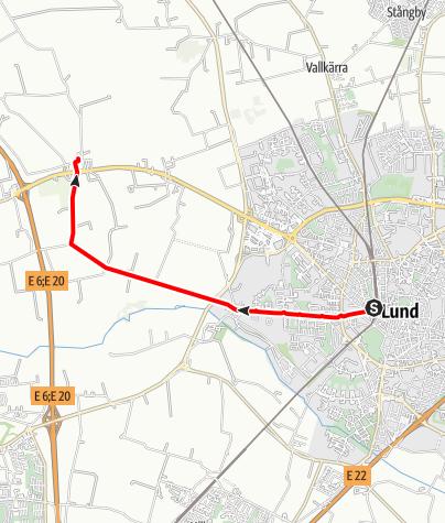 Karta / Birgittavägen, Klosterkyrkan i Lund - Fjelies kyrka