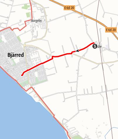 Karta / Birgittavägen, Flädies kyrka - Bergakyrkan i Bjärred
