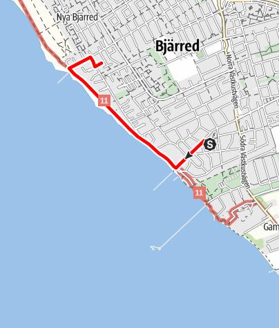 Karta / Birgittavägen, Bergakyrkan i Bjärred - kolerakyrkogården