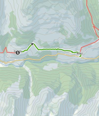 Map / Gemütliche Wanderung zwischen zwei Engadiner Dörfern: Guarda - Ardez