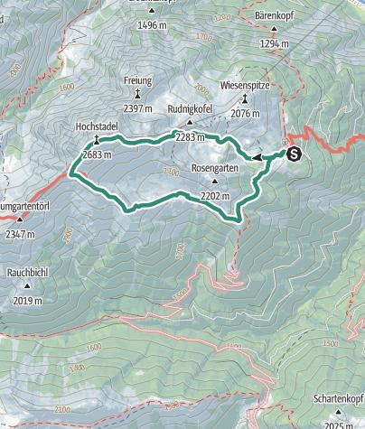 Karte / Hochstadel Gipfel - Normalanstieg