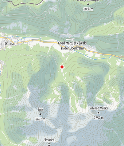 Karte / Die Hütte Brunarica Ingotu